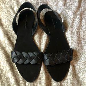 Zara Black Braided Sandals